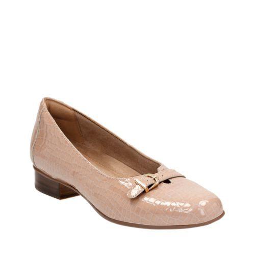 4f1b8fc7dcc Keesha Raine Nude Croc Patent Leather womens-wide-fit-heels