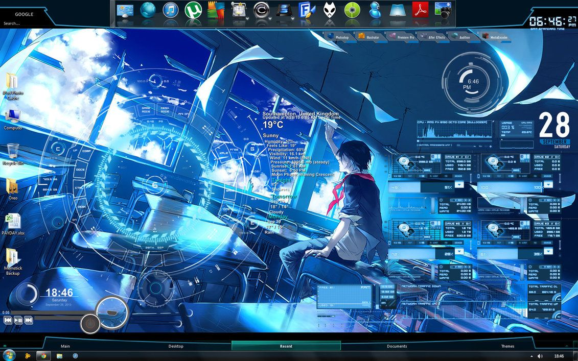Rainmeter desktop by zxien on deviantart for Deviantart rainmeter