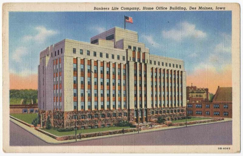 1940 One Cent 1940 Postcard Bankers Life Company Home Office