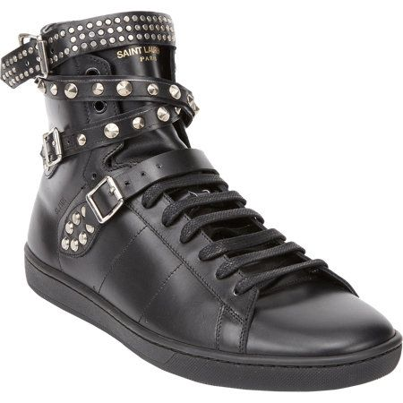 Saint Laurent Studded Classic Court #Sneakers