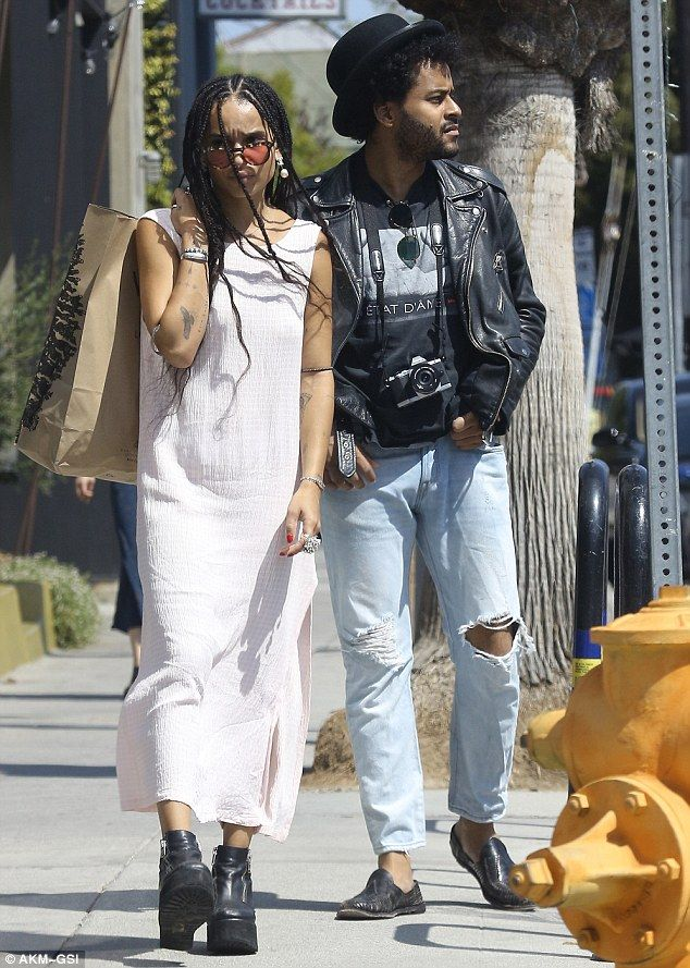 Zoe Kravitz exhibits trademark kooky style in slip dress