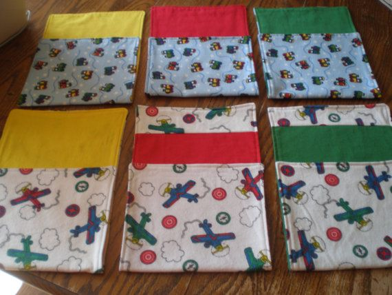 Baby Boy Burp Clothsset of 6 by SchwepersStitches on Etsy, $15.00