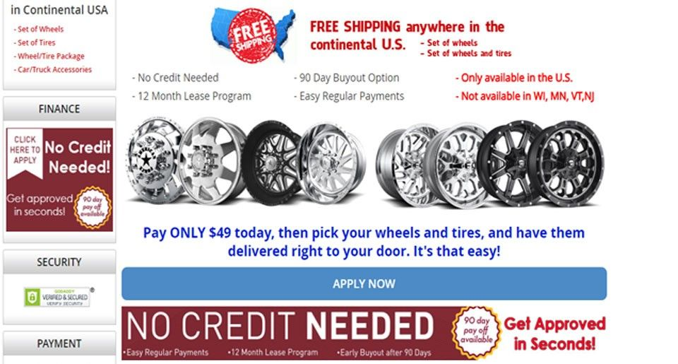 Proud To Announce Instant Credit And Financing On Wheels Tires