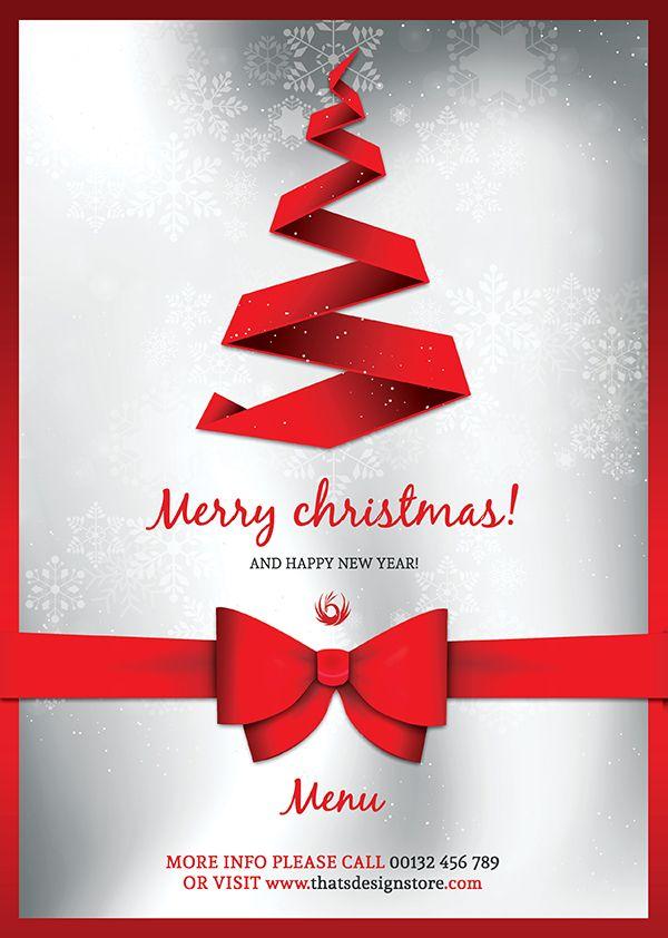 Christmas Eve Menu Template Psd V  Menu Templates Christmas