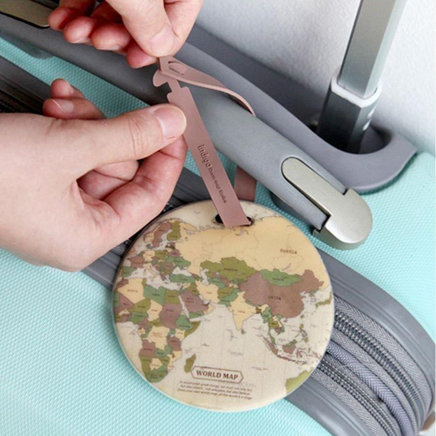 Map Of The World Luggage Tag #inspireuplift explore Pinterest