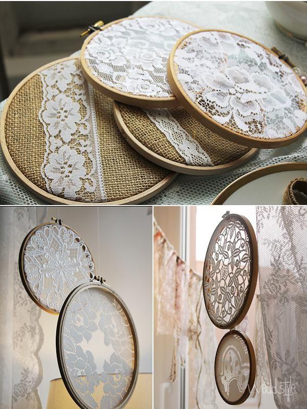 Vintage-Hochzeit Stickrahmen | ♡ VINTAGE HOCHZEITSDEKO | Pinterest ...
