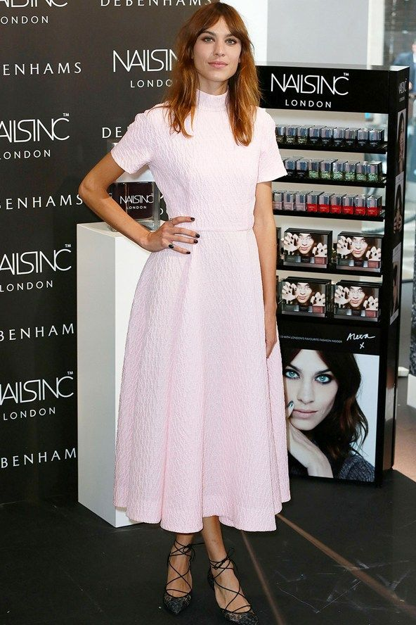 August 14th 2014. For the Nails Inc Alexa Manicure Launch in London she wore an Emilia Wickstead dress.