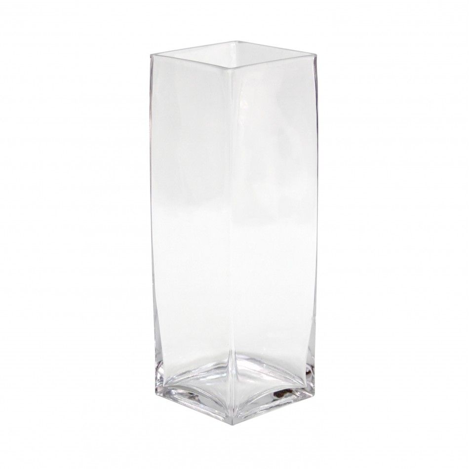 4 x 12 Tall Square Glass Vase, 12-Pack [404348] : Wholesale Wedding ...