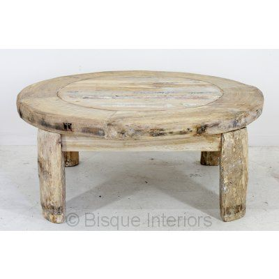 old bleached wood coffee table
