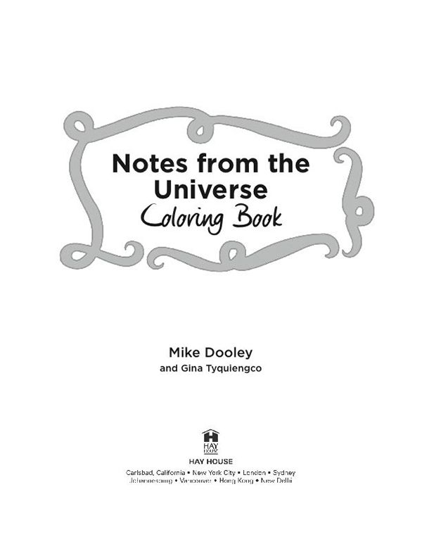 Notes From The Universe Coloring Book Coloring Pages