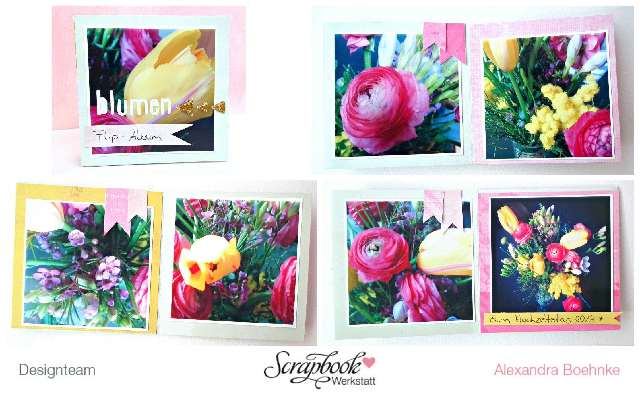 """Mini """"Blumen"""" - Scrapbook Werkstatt September Kit 2014 - designed by Alexandra Boehnke (Tandi-Works)"""