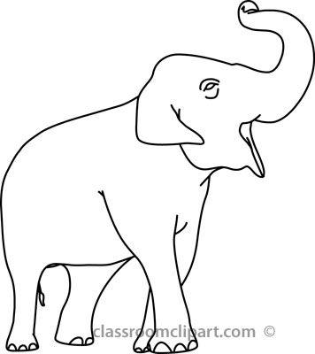 Free Elephant Outline Pictures Clipartix Elephant Outline Outline Pictures Colorful Drawings