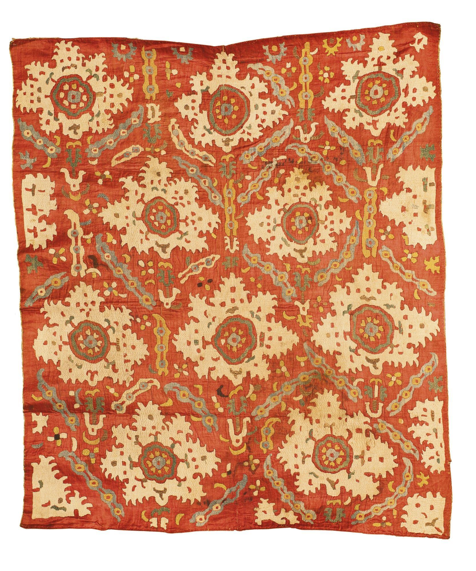 Embroidered silk Kaitag, Northeast Caucasus, ca. 1800.