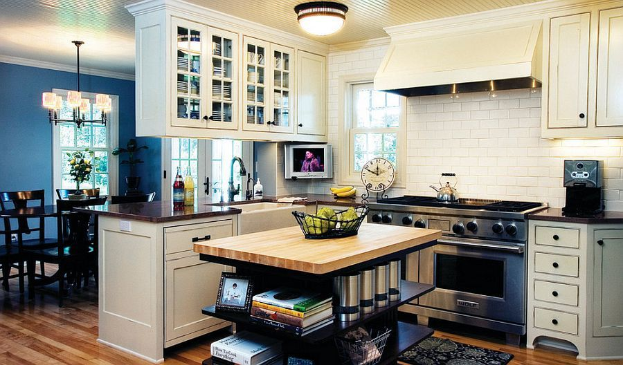 Trendy Display 50 Kitchen Islands With Open Shelving  Cherry Endearing Kitchen Shelves Design Inspiration Design