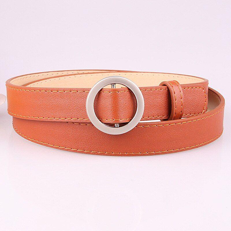 Fashion Wild Lady No Hole Round Buckle Belt Jeans Belt Student Simple Wild Decorative Belt Jeans Belt Dress Decorative Belt In 2020 Belt Jean Belts Belts For Women