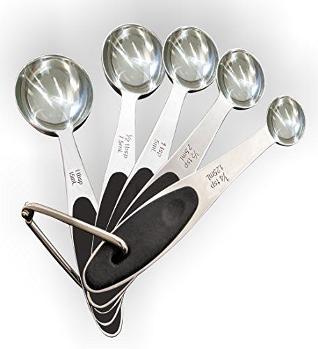 5X Stainless Steel Measuring Spoons Set Kitchen Cups Utensil Cooking Baking Tool