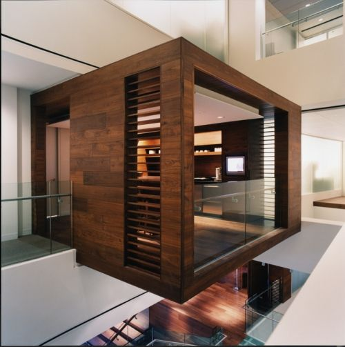 Beautiful office love the concept of a cantilevered wood for Modern office interior design concepts