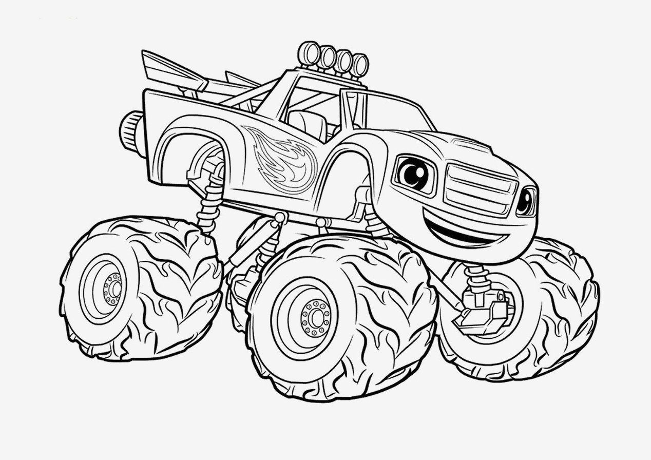 - Blaze And The Monster Machines Coloring Pages Unique Coloring