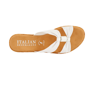 Italian Shoemakers Ashford Women's Sandal (WHITE) | Off Broadway Shoes