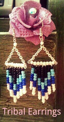 DIY tribal earrings