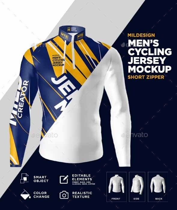 Download Mens Cycling Jersey Mockup in 2020 | Cycling jersey ...