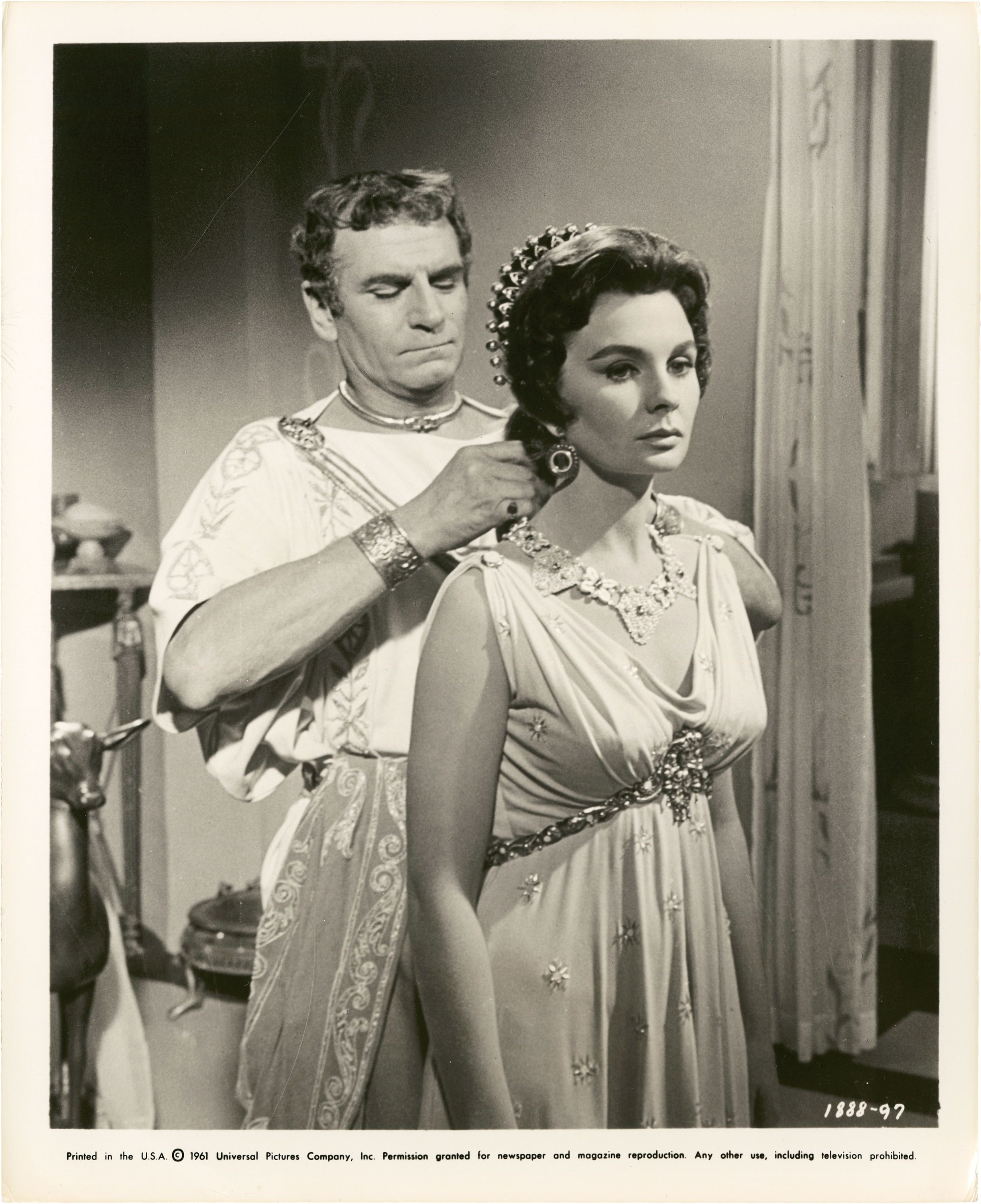 Laurence olivier spartacus quotes - Laurence Olivier And Jean Simmons In Spartacus Directed By Stanley Kubrick 1960