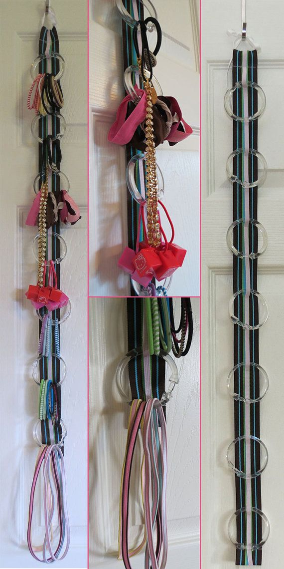 Hanging Hairtie & Elastic Headband Organizer with Elastic - 216 color combinations - Perfect for Elastic Headbands for Babies!