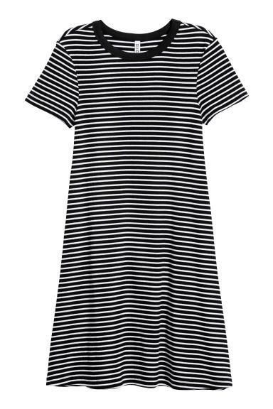 e7ec4ea916 H&M jersey dress striped | Style | Black white striped dress ...