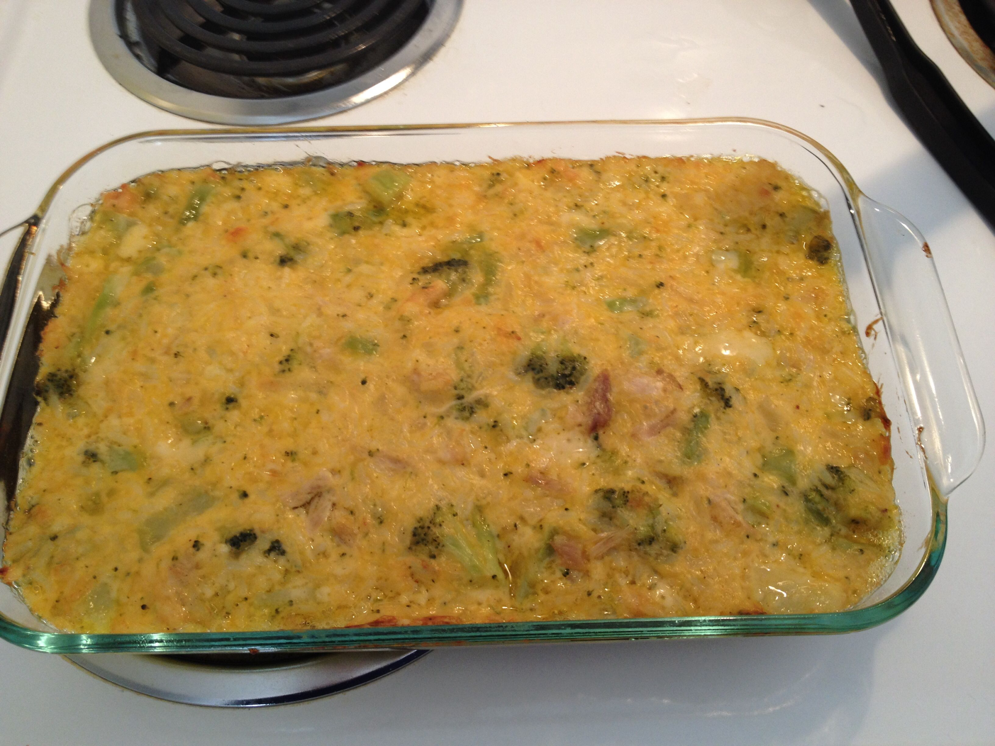 Chicken, Broccoli, Rice,  Cheese Casserole Based Off -9520