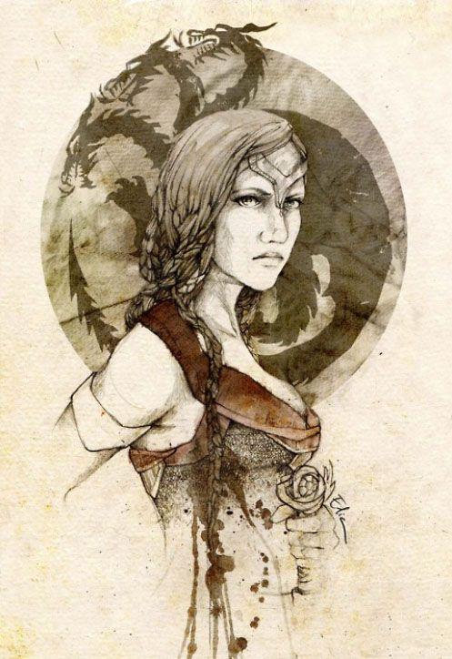 Visenya Targaryen By Elia Illustration On Deviantart A Song Of Ice And Fire Illustration Game Of Thrones Art