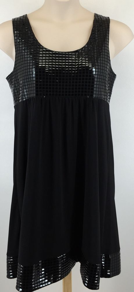 Cato Juniors Size Large Little Black Bling Dress Sleeveless #Cato #Sheath #LittleBlackDress