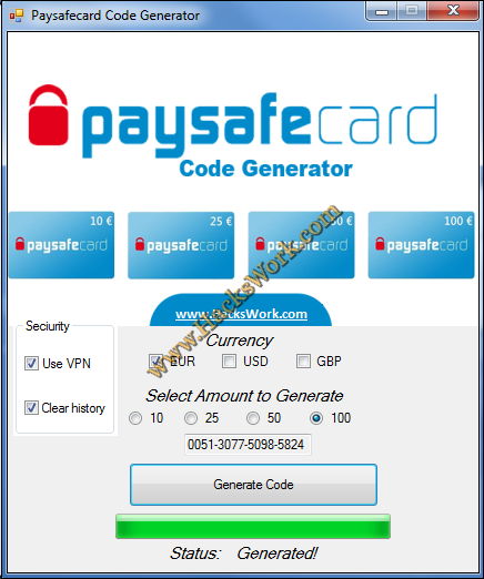 Paysafe Code Generator Ohne Download