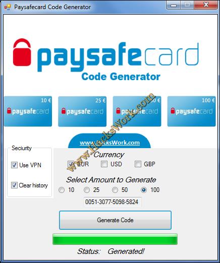 paysafe generator