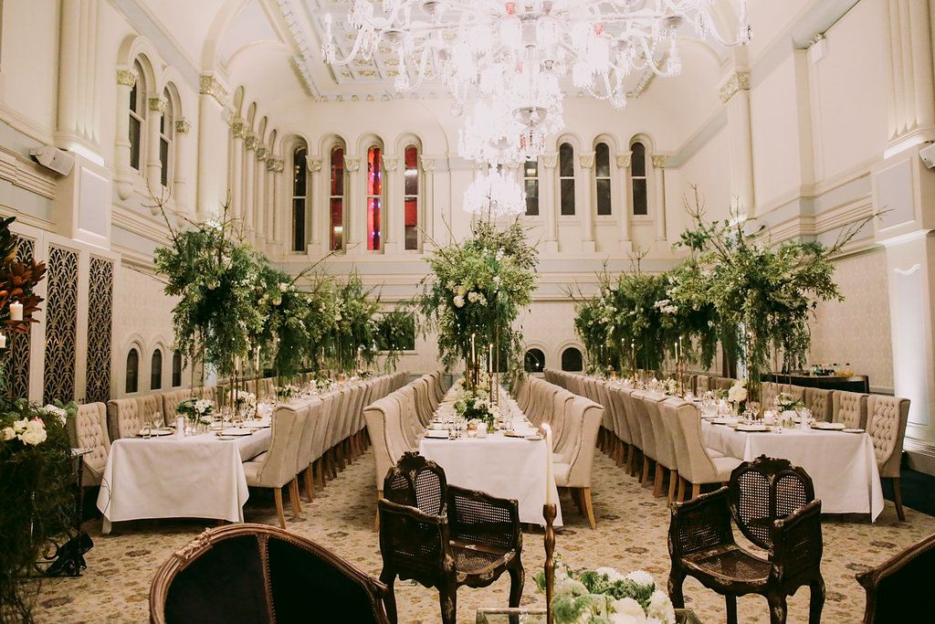 wedding receptions - photo by Lara Hotz http://ruffledblog.com/chic-australian-wedding-with-greenery-and-gold