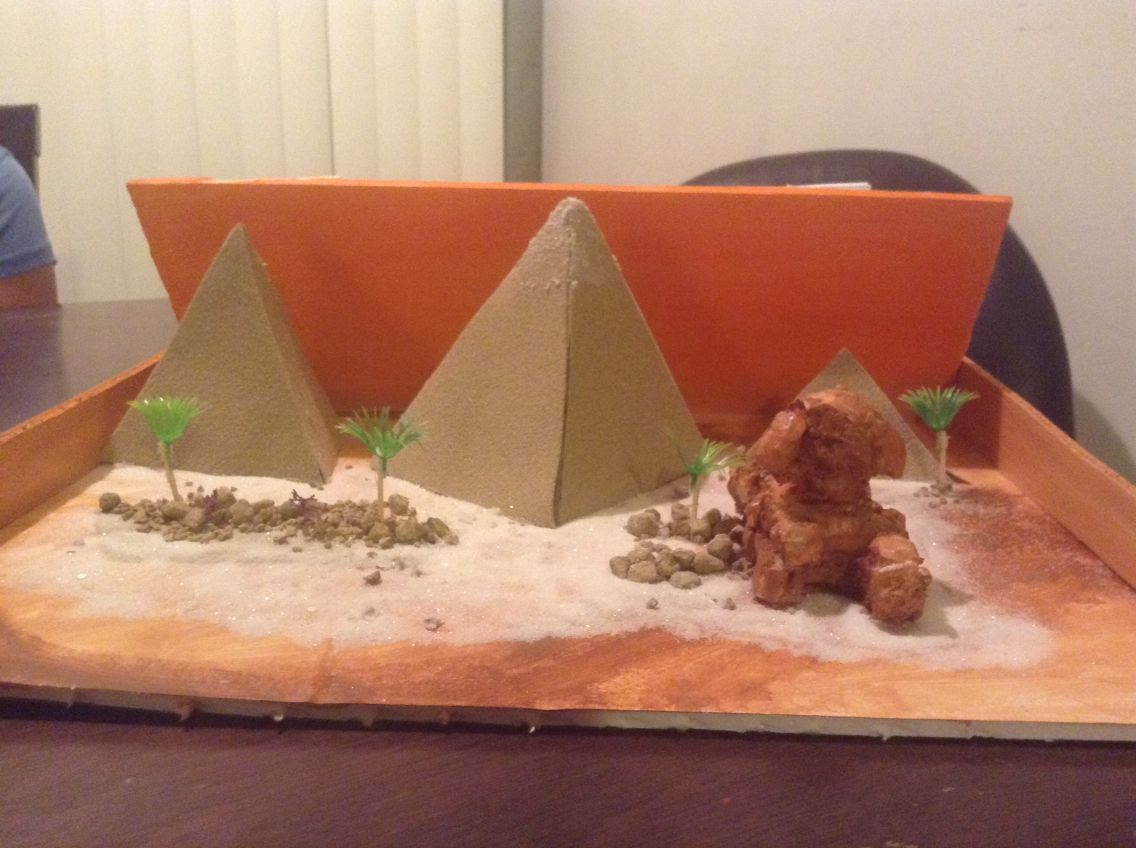 Pyramids Of Egypt And The Great Sphinx Diorama Art Of A