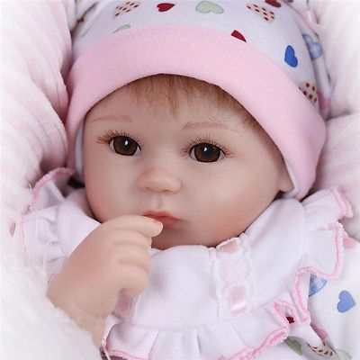 Muneca-Bebe-Reborn-recien-nacido-realista-de-vinilo-nina-hecho-a-mano-de- Silicona-17-Regalo-realista 66df51af9a08