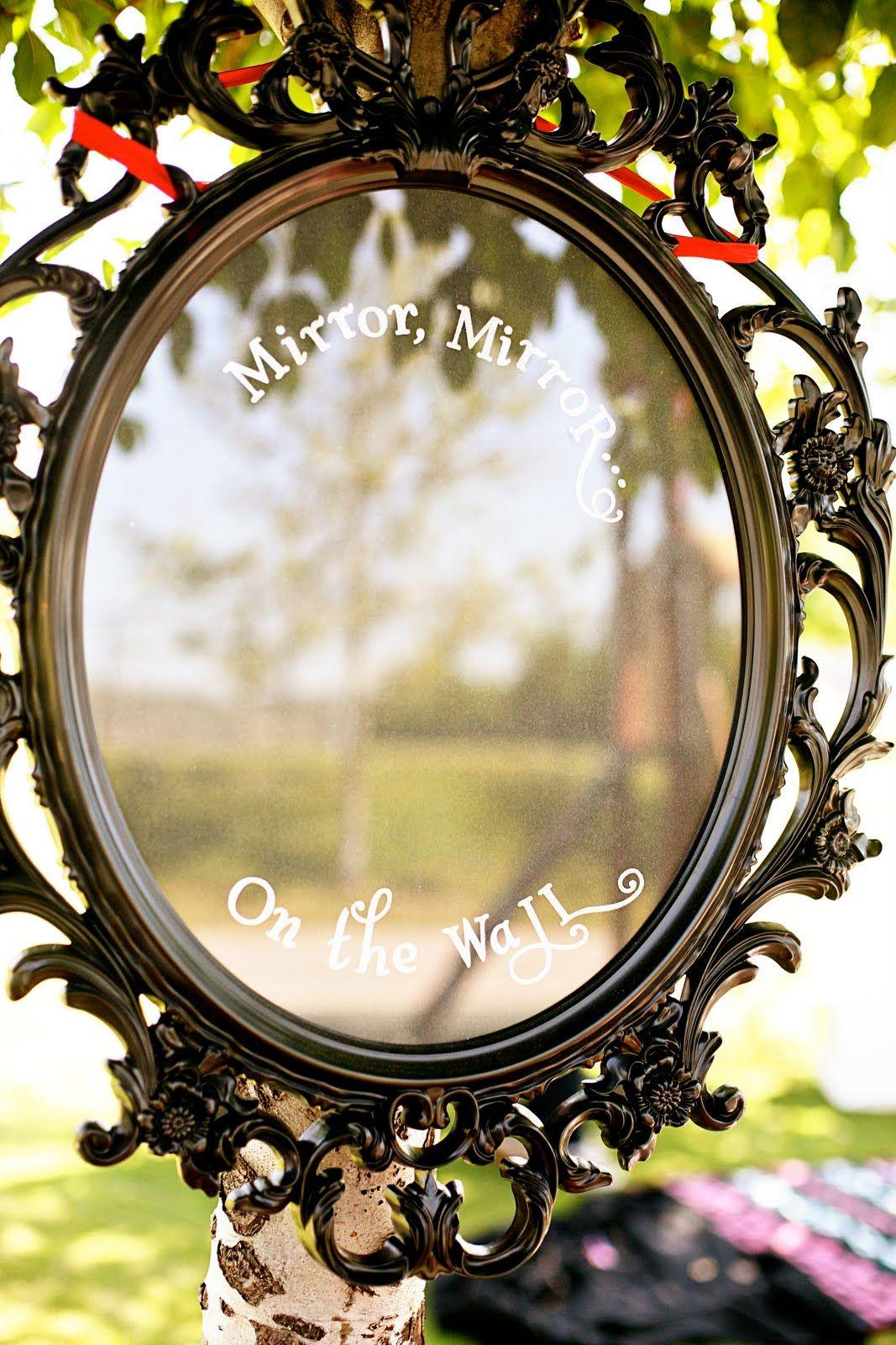 Hi ho hi ho lydias 3rd birthday we go mirror mirror on diy magic mirror for snow white party amipublicfo Choice Image