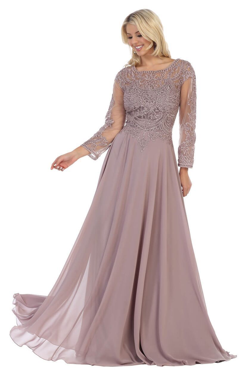 fb6bfaca6cb82 Long Chiffon Mother of the Bride Dress Plus Size Formal | DressOutlet - The  Dress Outlet