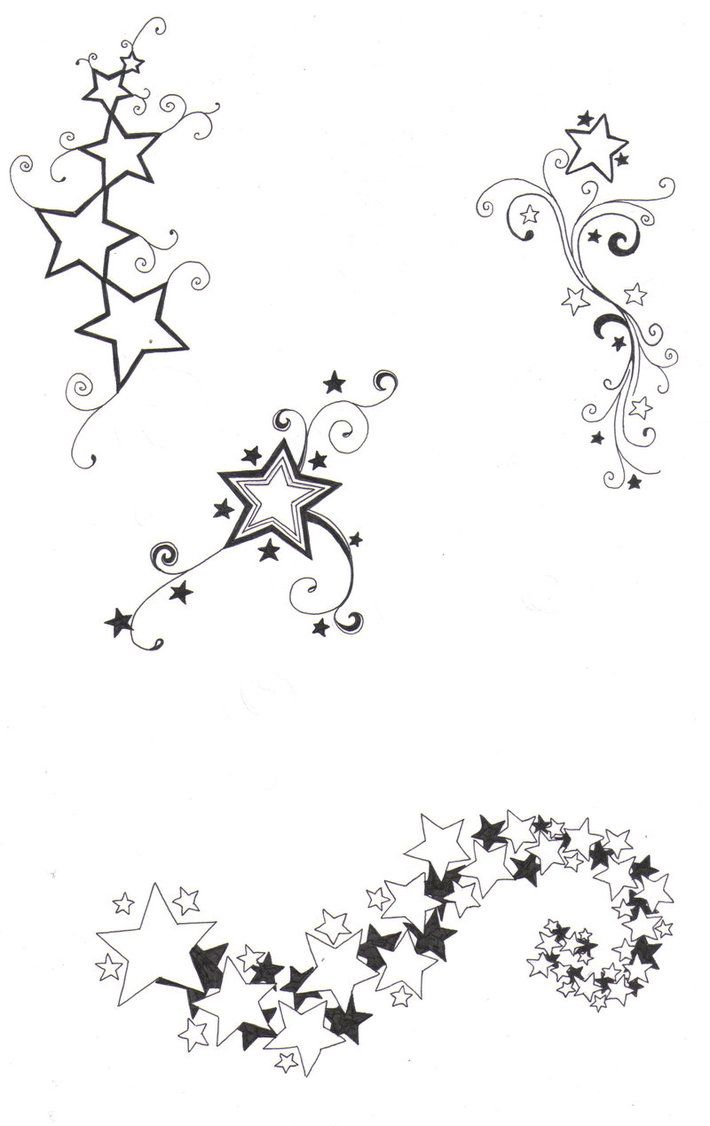 sketches of stars and hearts | Star designs by ...