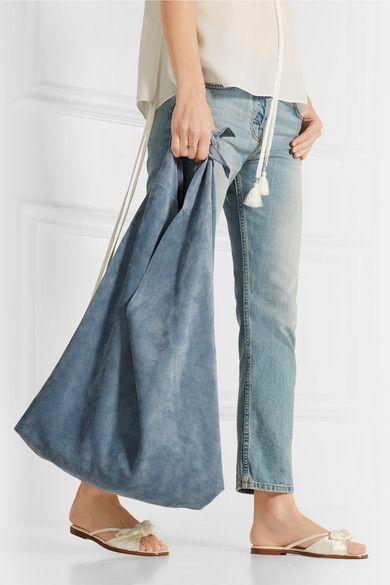 The Row | Knot suede shoulder bag | NET-A-PORTER.COM