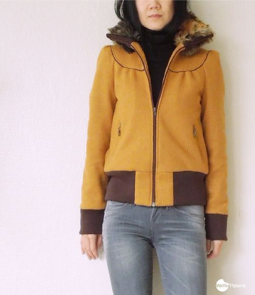 Winter Cookie blouson | Waffles, Patterns and Sewing patterns