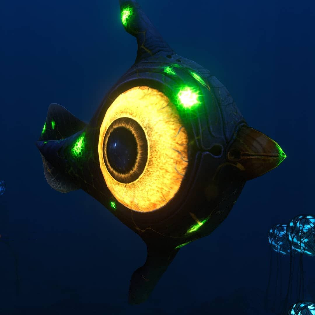 Subnautica gaming planetb peeper infected undersea fauna