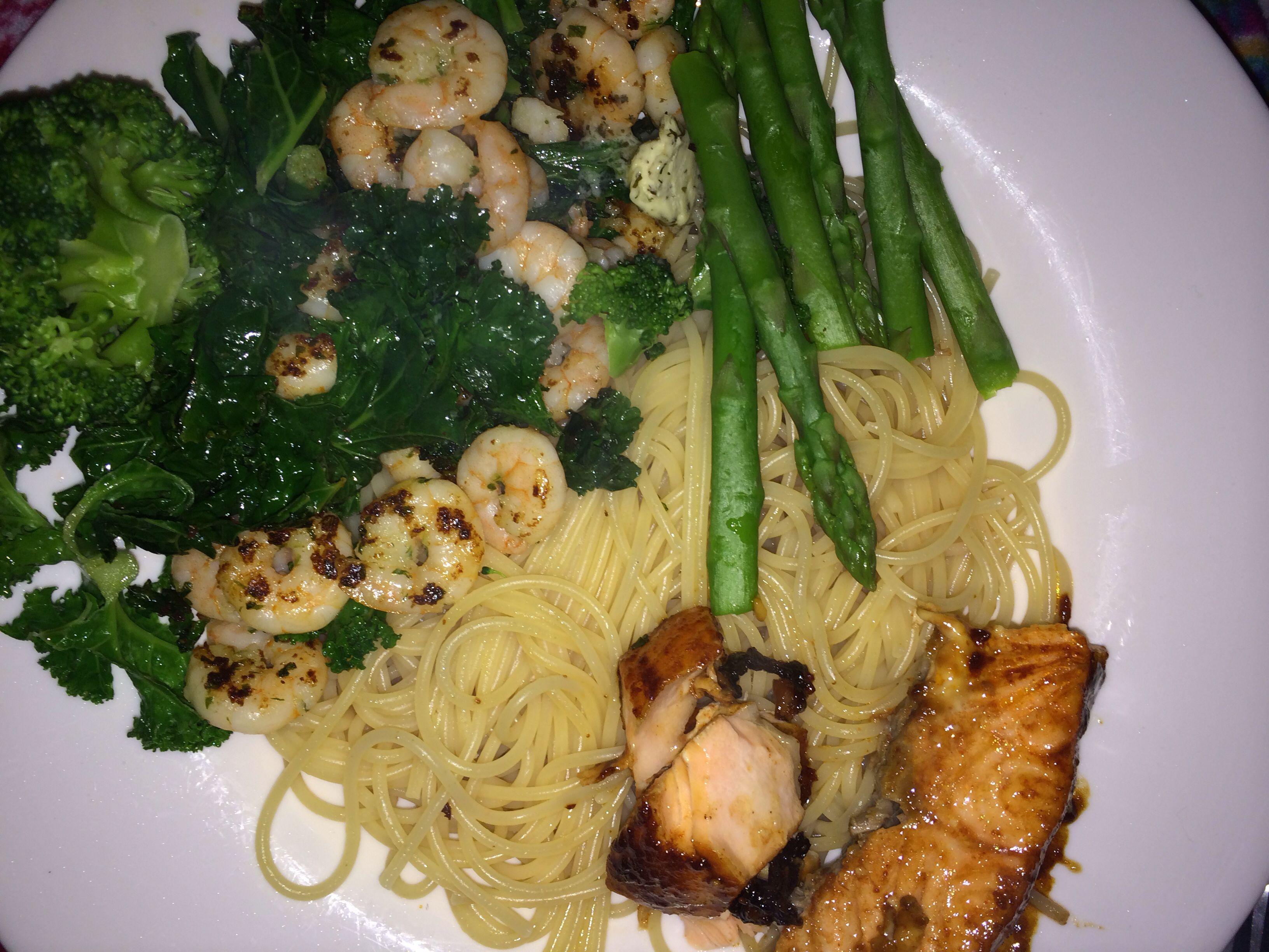 Pasta salmon n prawns. Slimming world friendly recipe