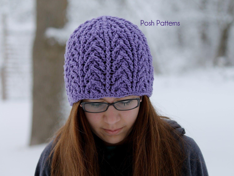 Crochet PATTERN - Crochet Cable Hat Pattern | Easy crochet hat, Easy ...