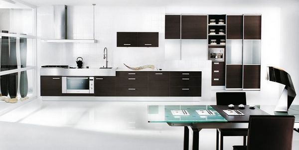 White Kitchen With A Touch Of Color 1 Decor Modern Design Minimalist
