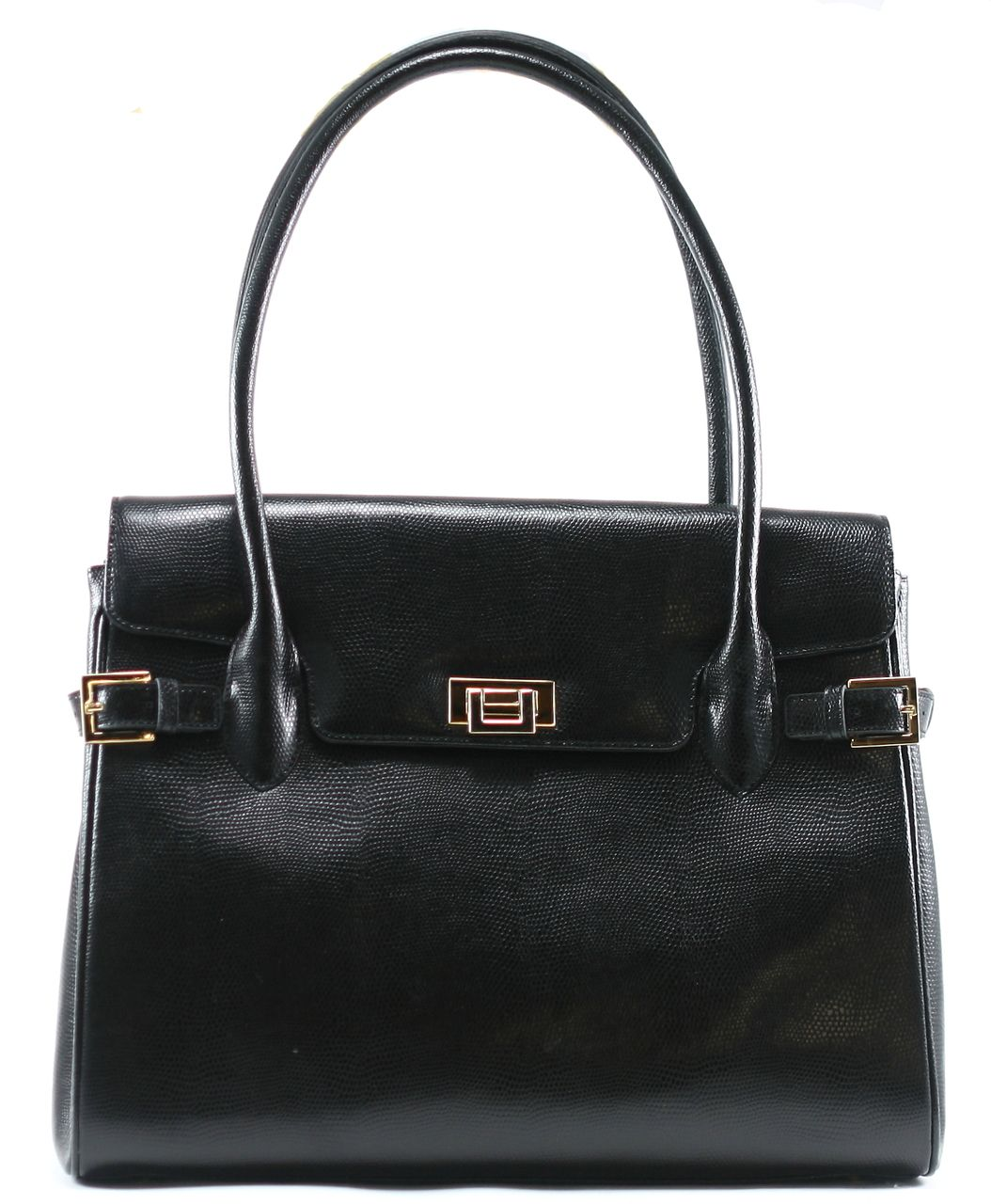 Muska Lizard Vanna Bag 36 Cm Black Nero Milano