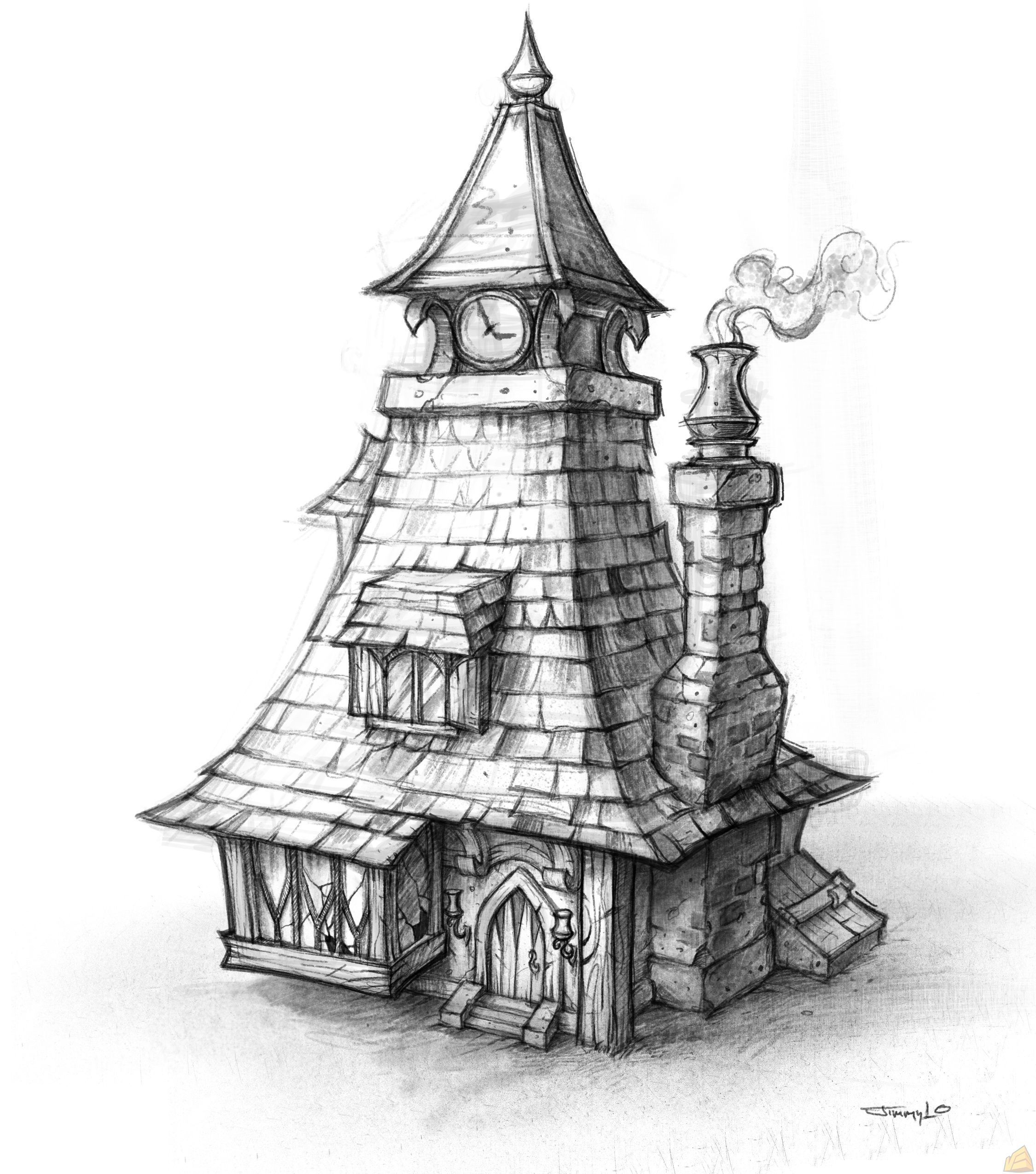 Sketches Of Fantasy Houses Google Search Art World Sketches