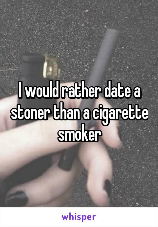 Dating a cigarette smoker