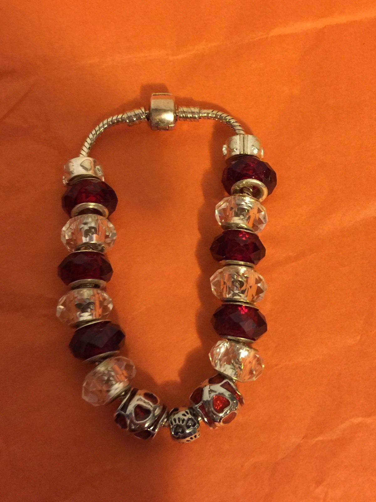 Paws of Love European Murano Beads Charm Bracelet | eBay