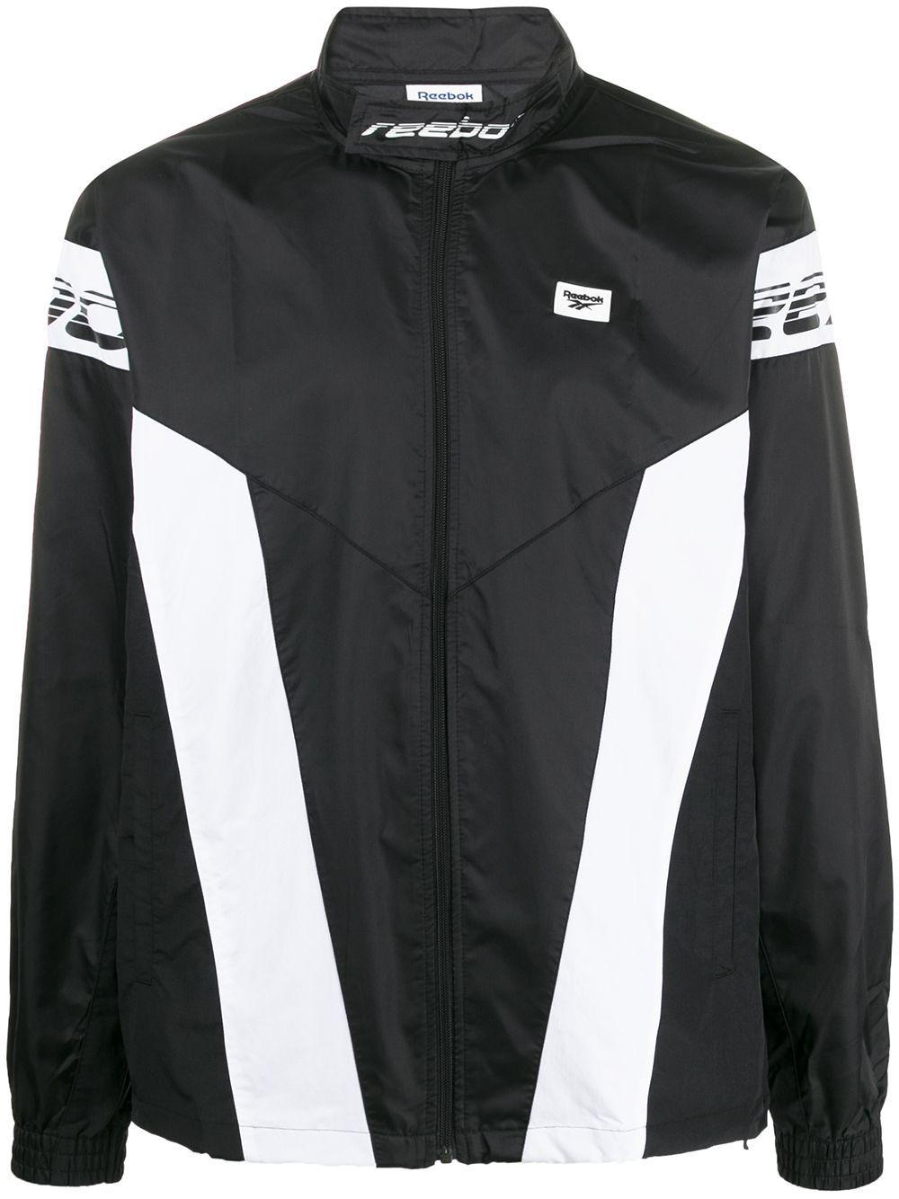 Reebok Logo Strap Jacket Farfetch Reebok Logo Jackets Black And White Logos [ 1334 x 1000 Pixel ]